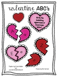 Valentine's Day Uppercase and Lowercase Letter
