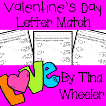 Valentine's Day Uppercase and Lowercase Letter Match