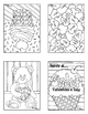 Valentine's Day Valentines Cards Coloring Book Sets Detail
