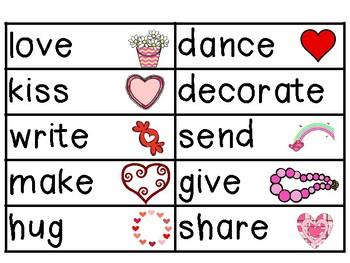Valentine's Day Verbs