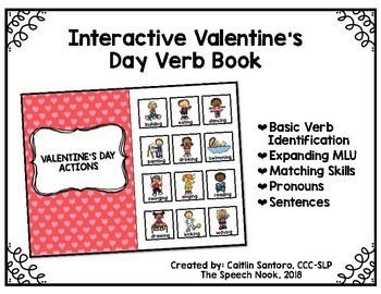 Valentine's Day Verbs: Interactive Book
