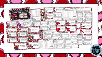 Valentine's Day Verbs Task Cards - SCOOT