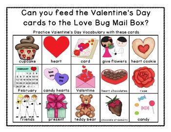 Valentine's Day Vocab - Feed the Love Bug Mailbox - FREEBIE