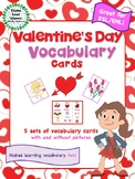 Valentine's Day Vocabulary Cards - Great for ESL/ENL