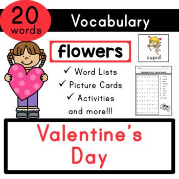 Valentine S Day Vocabulary Flash Cards