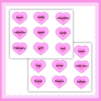 Valentine's Day Vocabulary Matching