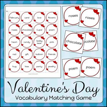 Valentine's Day Vocabulary Matching Game