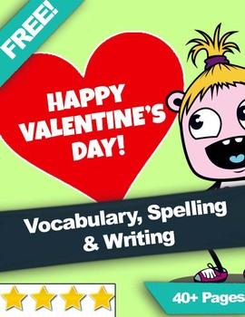 FREE Valentine's Day Vocabulary | Spelling | Handwriting |