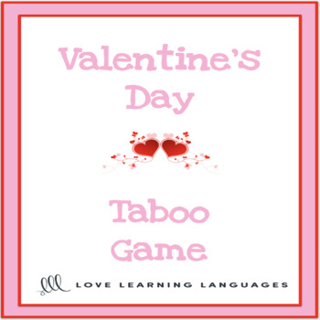 valentines day vocabulary taboo game tpt valentines game