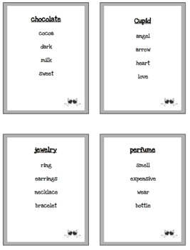 Valentine's Day Vocabulary Taboo Game