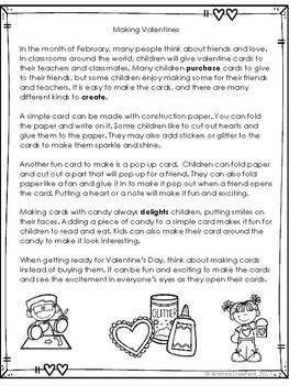 Valentine's Day Vocabulary Task Cards