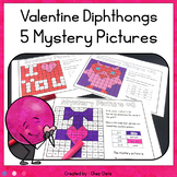 Valentine's Day Vowel Diphthongs 5 Mystery Pictures - Colo