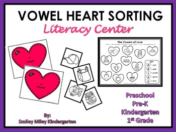 Valentine's Day Vowel Heart Sorting