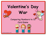 Valentine's Day War (A Comparing Numbers to 10 Card Game)