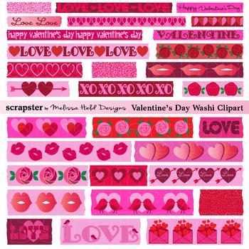 Valentine's Day  Washi Tape Clipart