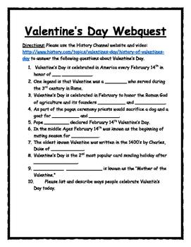 Valentine's Day Webquest
