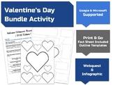 Valentine's Day Webquest & Infographic Activity Bundle