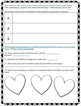Valentine's Day Webquest for Middle School