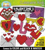Valentine's Day Wooden Block Rods Clipart {Zip-A-Dee-Doo-Dah Designs}