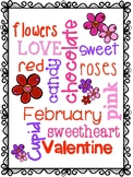 Valentine's Day Word Cloud and Writing Paper