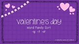 Valentine's Day Word Family Sort