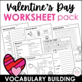 Valentine's Day Word Scramble Worksheet {Freebie} How many