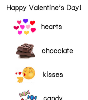 Valentine's Day Word List