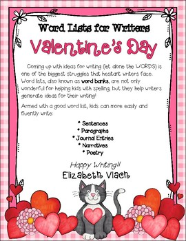 Valentine's Day Word List for Writers