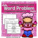 Valentine's Day Word Problem Sort - Add, Subtract, Multipl