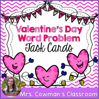 Valentine's Day Word Problem Task Cards