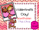 Valentine's Day Word Problem Task Cards (3rd grade)