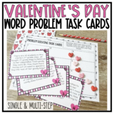 Valentine's Day {Word Problem} Task Cards