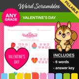 Valentine's Day Word Scrambles