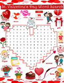 Valentine's Day Word Search - Heart Shaped Wordsearch