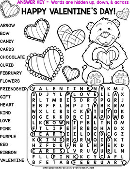 Valentine's Day Word Search - A Freebie for my Followers!