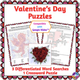 Valentine's Day Word Search & Crossword Puzzles: Print & P