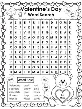 Valentine's Day Word Search - Hard