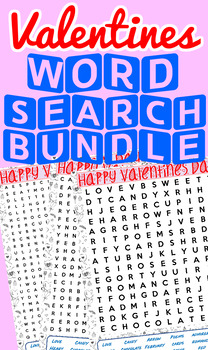 Valentine's Day Word Search Pack
