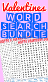 Valentine's Day Word Search Bundle!