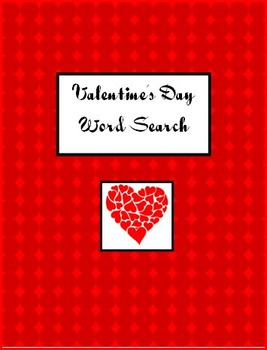 Valentine's Day Word Search - Primary and Intermediate