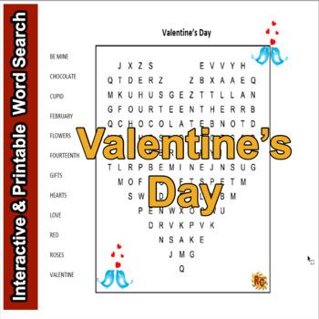 Valentine's Day Word Search Puzzle Grade 1-5