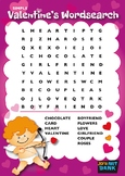 Valentine's Day Word Search (Simple Version)