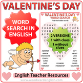Valentine's Day Word Search in English
