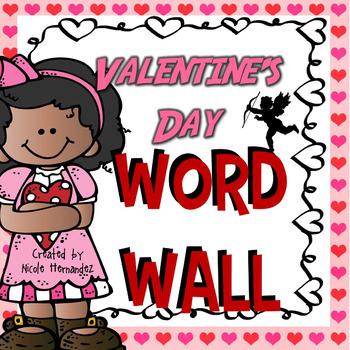 Valentine's Day Word Wall Vocabulary