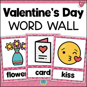 Valentine's Day Word Wall Vocabulary Cards