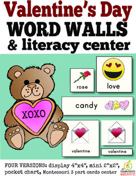 Valentine's Day Word Wall and Literacy Center