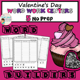 Valentine's Day Word Work Centers