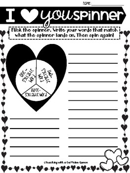 Valentine's Day Word Work - NO PREP - Use with ANY word list!