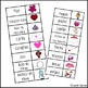 Valentine's Day Word Writing Lists in Spanish