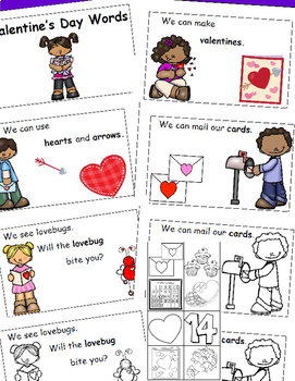 Valentine's Day, Emergent Reader, Cut and Paste Activities, February Activities